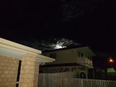 my front yard moon